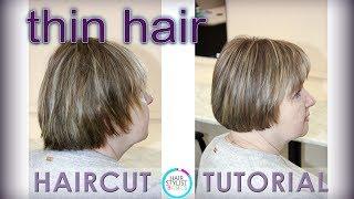 Female haircut  for thin hair  (женская стрижка для тонких волос)