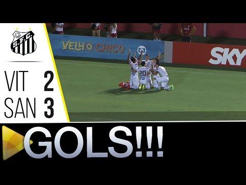Vitória 2 x 3 Santos | GOLS | Brasileirão (24/07/16)
