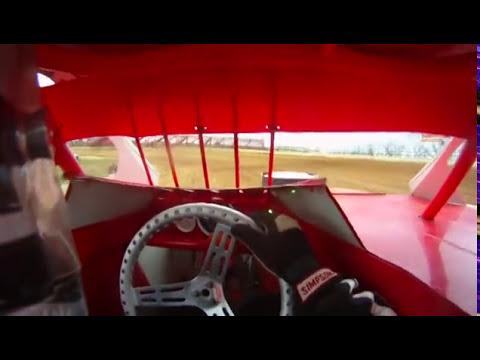 Midway Lebanon Speedway Practice 3/19/11 - In Car Helmet Cam