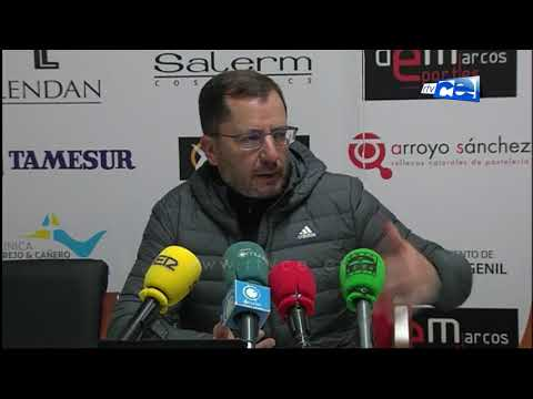 Jose Juan Romero señala que el árbitro no influyo en la victoria del Ceuta en Puente Genil
