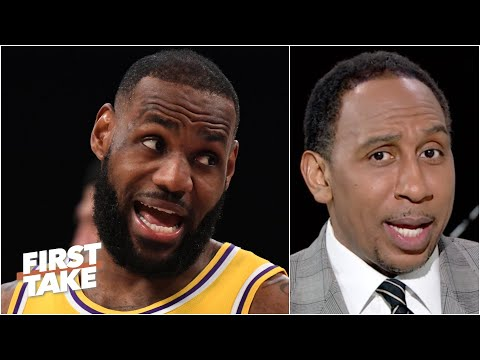 'Hell no, I'm not buying that!' - Stephen A. reacts to LeBron's postgame comments | First Take