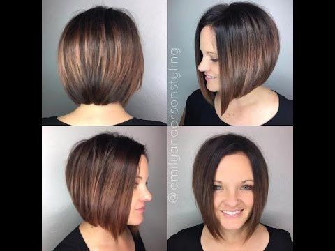 Hottest stacked haircuts youtube for Long bob wellig