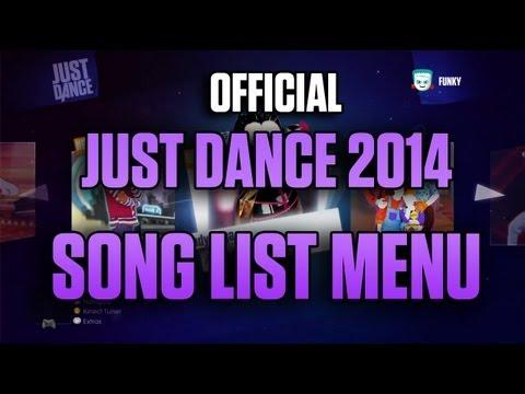Song List Menu!  Just Dance 2014 NORTH AMERICA