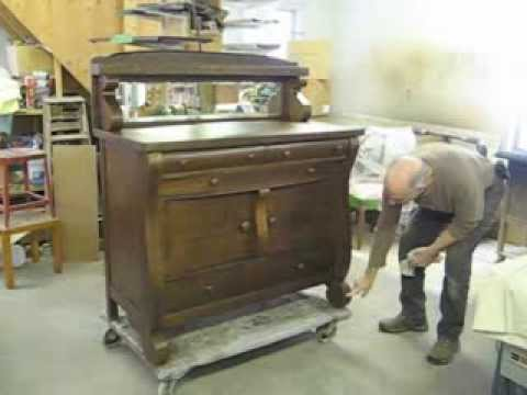 Restoring An Oak Sideboard   Thomas Johnson Antique Furniture Restoration
