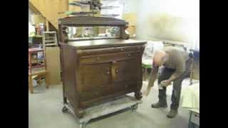 Restoring an Oak Sideboard - Thomas Johnson Antique Furniture Restoration