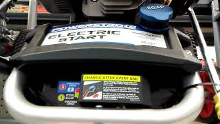 Powerstroke 3200 psi electric start gas pressure washer first look