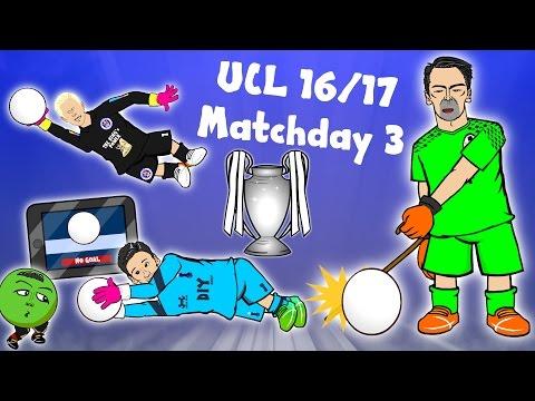 BUFFON SAVES! SCHMEICHEL SAVE! LLORIS SAVE! (Champions League Matchday 3 Parody goals/highlights)