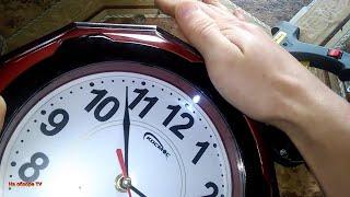 как сделать подсветку на настенные часы