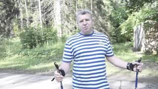 Скандинавская ходьба с палками.
