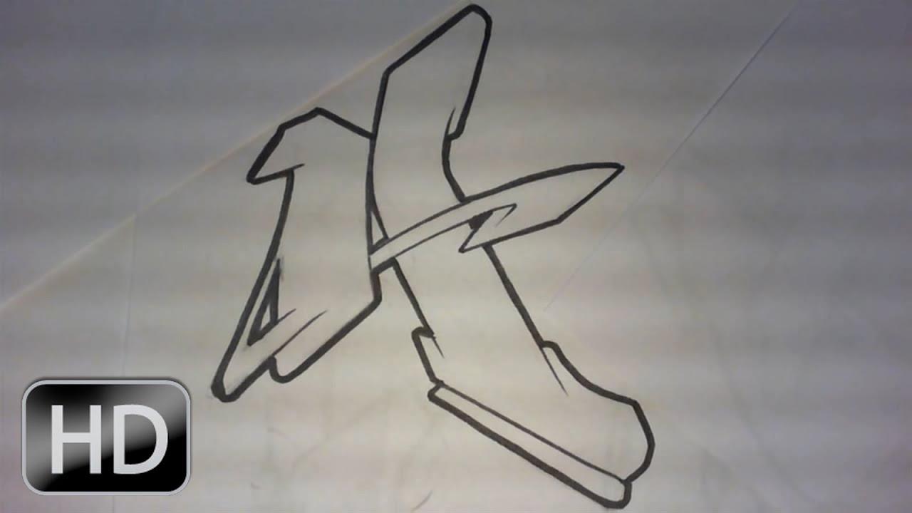 Graffiti alphabet n5 lettre par lettre complex flow style graff letters hd