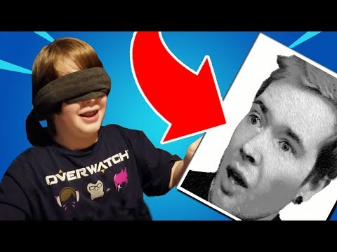 DRAWING DanTDM BLINDFOLDED!