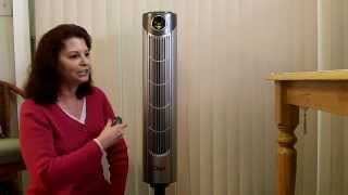 Ozeri Ultra 42 inch Wind Fan Adjustable Oscillating Tower Fan with Noise Reduction Technology