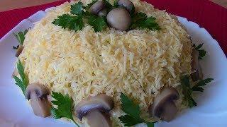 Салат ПРАЗДНИЧНЫЙ.Слоеный салат с курицей и грибами