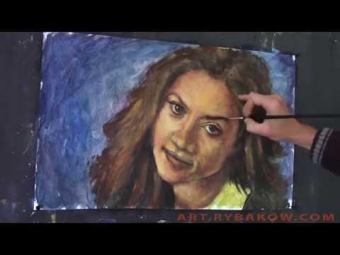 Как писать портрет по фото на заказ маслом!