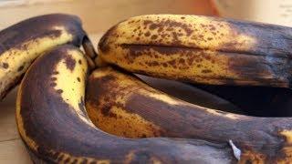 Schau was mit deinem Körper passiert, wenn du reife braune Bananen isst!