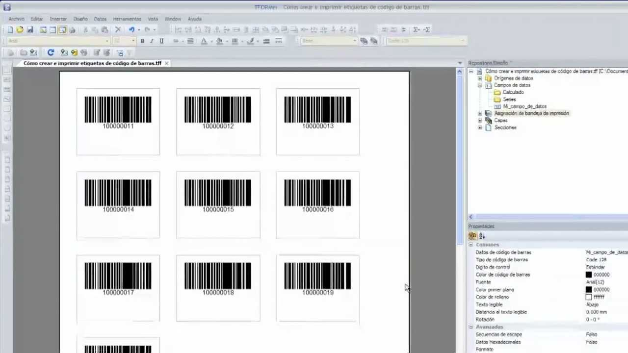 Cómo imprimir etiquetas de código de barras profesionales - programa ...