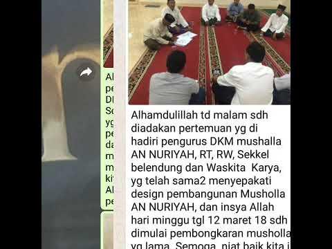 Pembangunan Musholla An-Nuriyah Dianti Dyah Ayu Cahyani Putri di dekat Bandara Sukarno Hatta Indones
