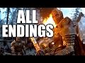 FOR HONOR - All Endings - Knight/Viking/Samurai Ending