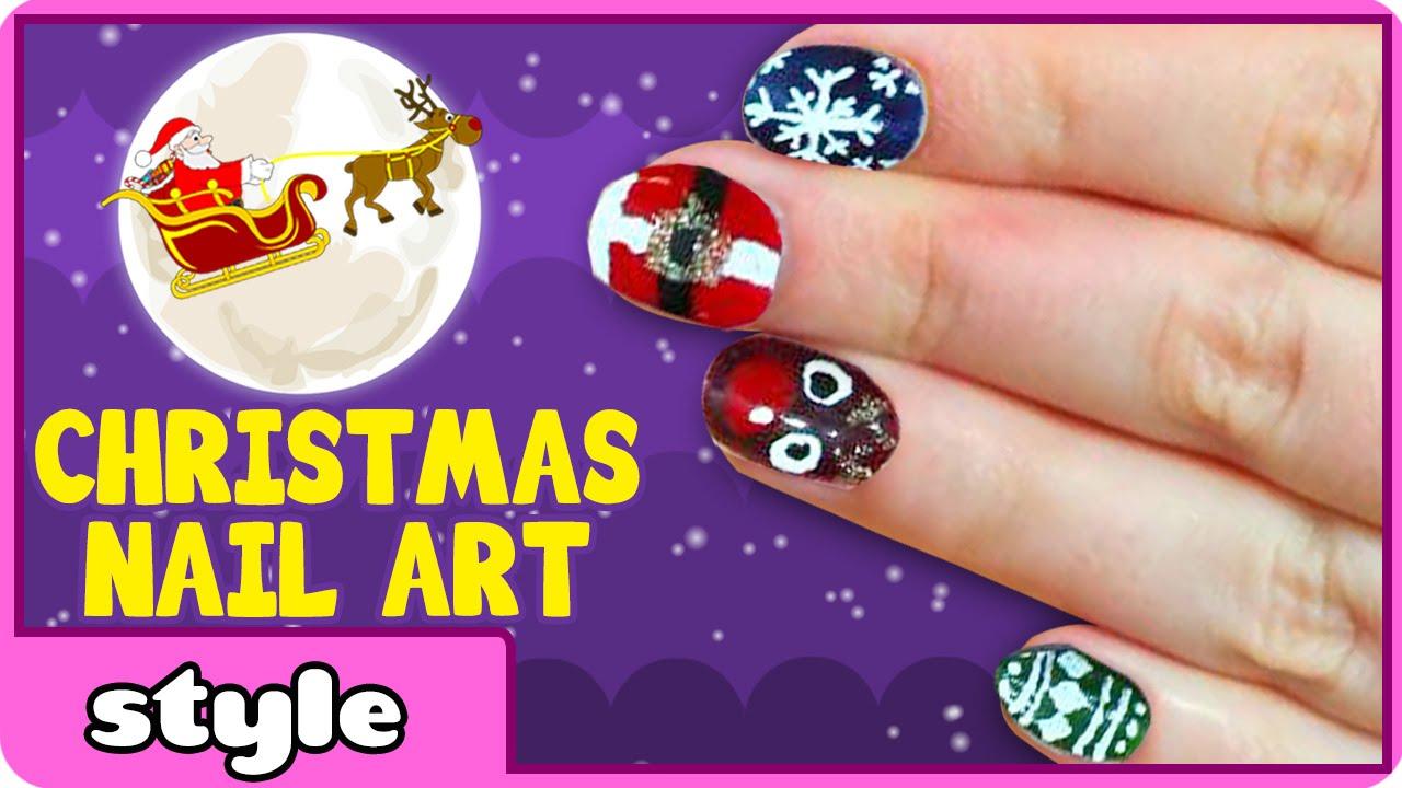 Christmas Nail Art for Kids - YouTube