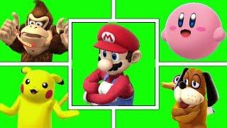 Smash Bros X Fortnite Dance (Green Screen)