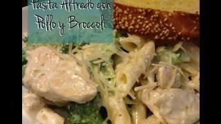 Pasta Alfredo Con Pollo Y Broccoli