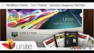 Unite Wordpress Theme Review & Demo | WordPress Business, Magazine Theme | Unite Price & How to Install