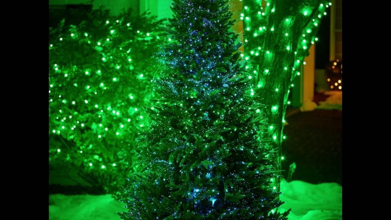 FIBER-OPTIC DANCING LIGHTS INDOOR/OUTDOOR CHRISTMAS TREE