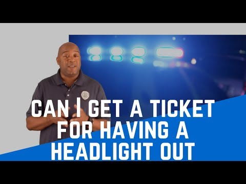 Can I Get A Ticket For Having a Headlight Out | Traffic
