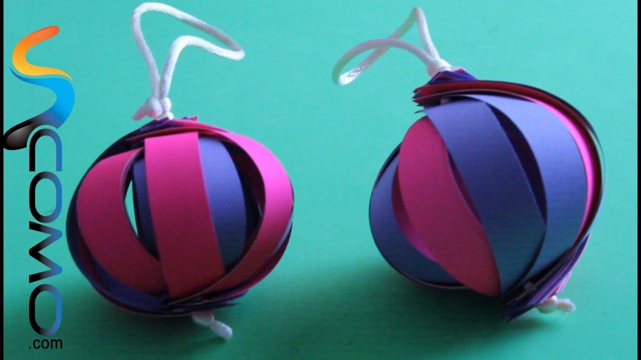 Hacer adorno 3d para el rbol de navidad youtube - Hacer adornos para el arbol de navidad ...