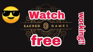 How to watch Sacred games for free|| Watch webseries free