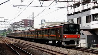 武蔵野線205系 M6編成 武蔵野南線試運転 西国分寺駅通過