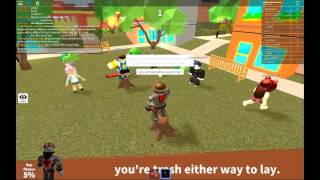ROBLOX - [Auto rap battles 3] FaZe_Snipe346 VS mrlambchopthegood +Me Throwing down