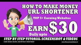Earn $30 per day and $5 payment proof this real site 100% working legit site. must watch this video