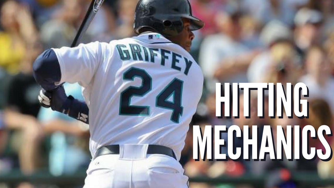 5b28622a33 Ken Griffey Jr. Hitting Mechanics - Baseball Swing Analysis - YouTube