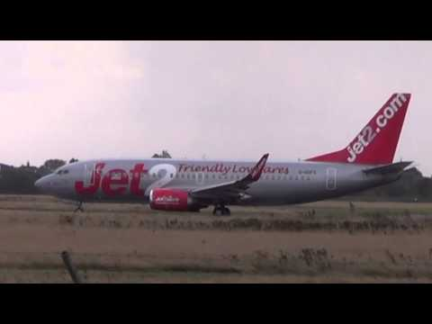 The end of an era? Last ever Jet2 from blackpool Airport 9/10/2014