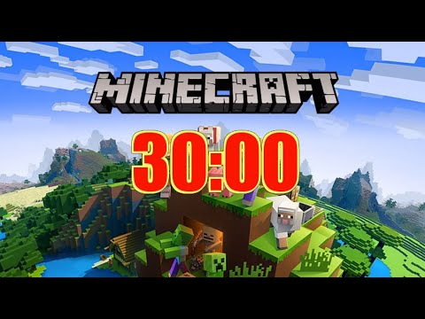 Minecraft 30 Minutes Timer with Music and No Alarm