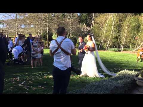 Jose Gonzalez Heartbeats Instrumental - Acoustic Guitar at wedding ceremony