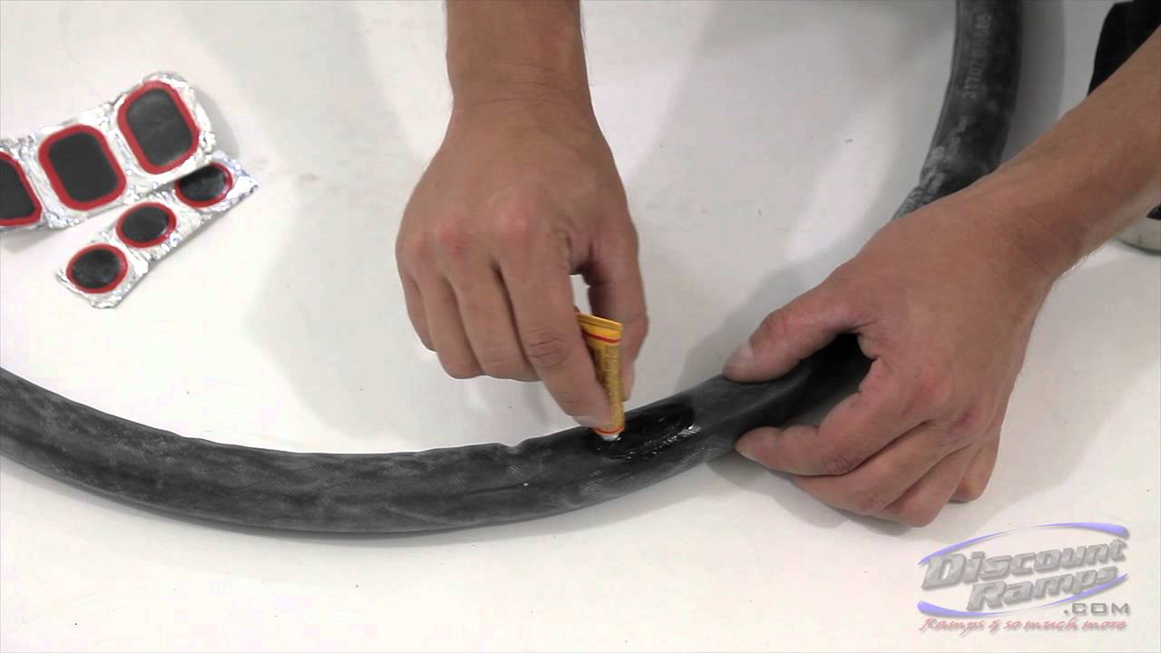 95b2d8b22 How To Fix A Punctured Bicycle Tube - YouTube
