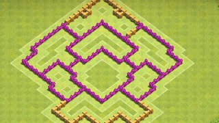 *NEW 2016*Clash of Clans Town Hall 7 (TH7) Defense Base Strategy - Without Barb King