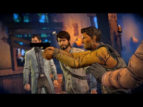 David Starts a Shootout and Kills Lonnie in Richmond (Walking Dead | Telltale Games)