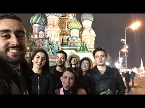Vlog 25 part 1 - trip to Moscow , نهاية الأسبوع في مدينة موسكو و زيارة أجمل أماكن في المدينة