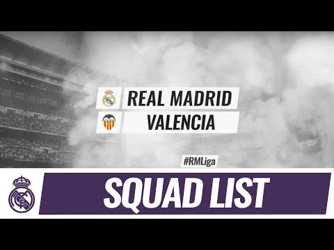 Our 19-man squad for the match against Valencia!