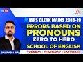 IBPS CLERK MAINS | Errors Based On Pronouns | Zero To Hero | English By Saurabh Sir