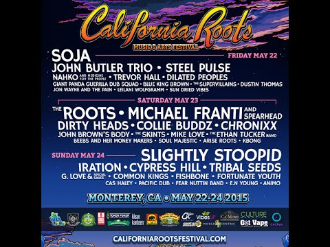 The California Roots Music and Art Festival 2015 Schedule