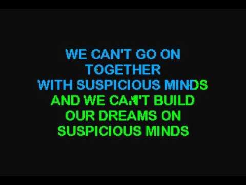 Karaoke Elvis Suspicious Minds