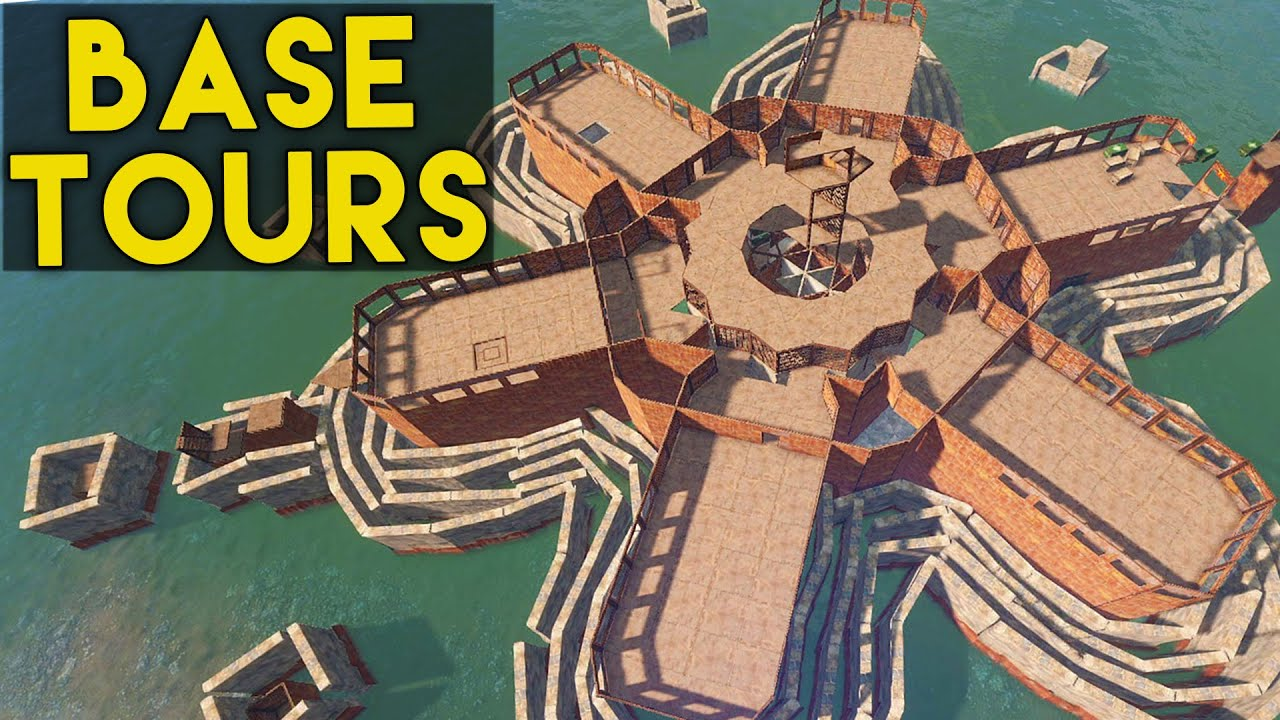 How To Stop Rust >> Rust Base Tours - Ep. 2 - Castle & Awesome Water Base - YouTube