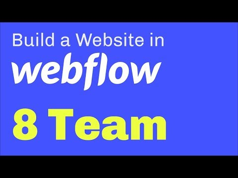 Create a Team Section in Webflow - YouTube