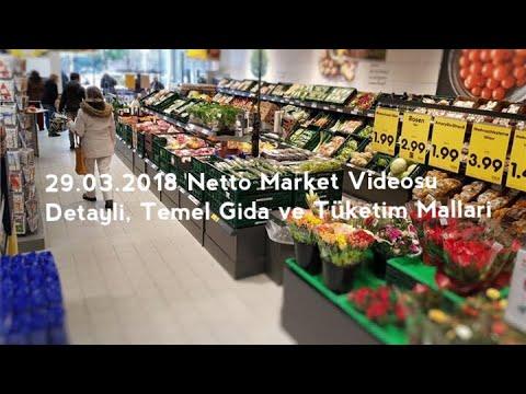 Detaylı Market Videosu - Almanya Netto Market 29.03.2018 - Temel Gıda ve Tüketim