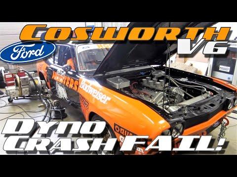 Ford Capri RS 2600 Cosworth V6 dyno crash failure