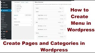 Wordpress Pages and Categories setup, How to create category & menu.